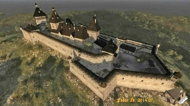 Комп'ютерна реконструкція зовнішнього вигляду Хустського замку
