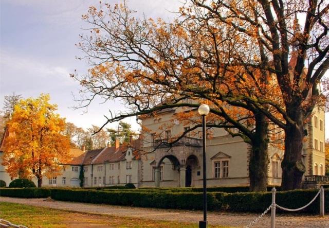 палац Шенборна, осінь