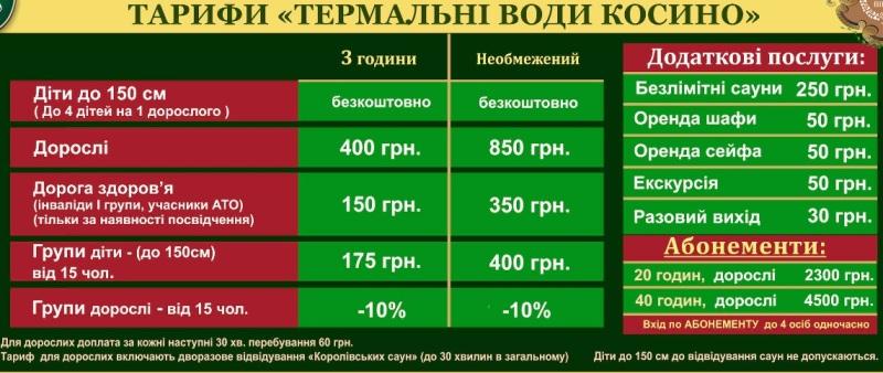 ціни косино