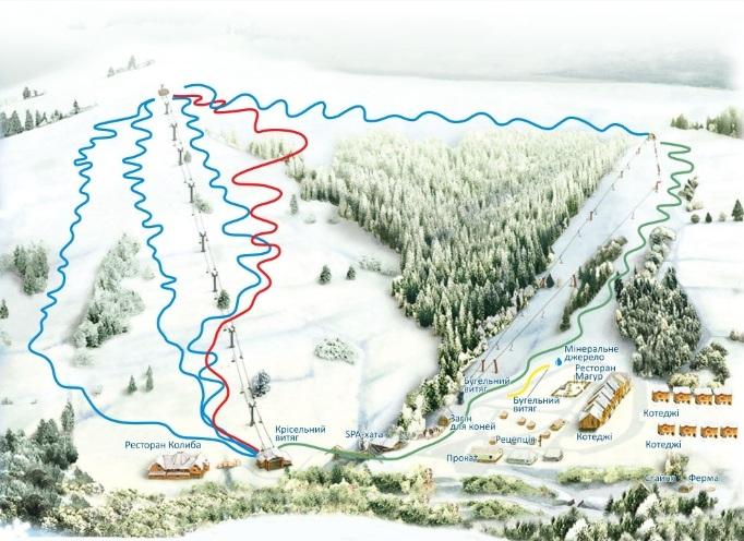 карта склонов изки