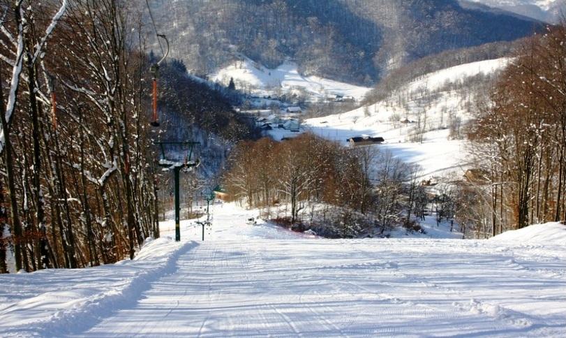 катание на лыжах Великий