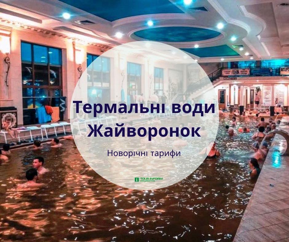 Обратите внимание, обновлено график работы и новогодние цены на термальные воды Жаворонок в городе Берегово, если Вы выбрали на Новый год 2020 Закарпатье.