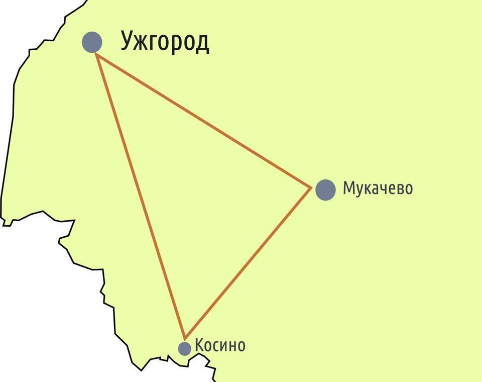 Туристичний маршрут: Срібний трикутник Закарпаття