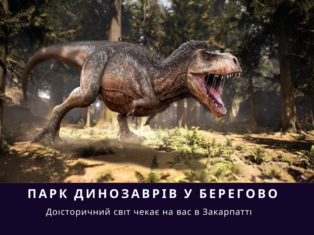 Парк динозаврів коло міста Берегово планують відкрити у другій половині жовтня, де можна буде безпосередньо зустрітись з хижаками та травоїдними істотами Крейдяного періоду.