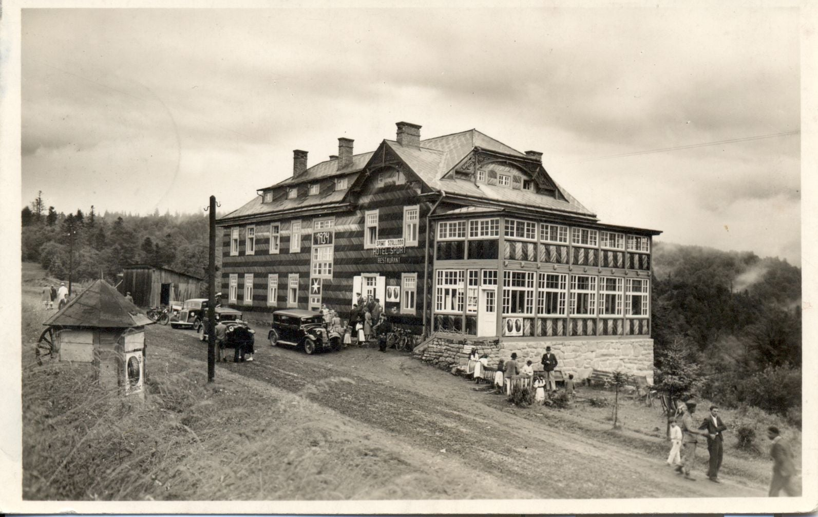 Як виглядав готель на перевалі Ужок майже 100 років тому