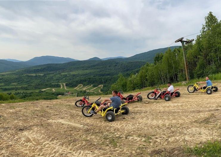 Активний відпочинок в Закарпатті – катання на велотрайках, Термачув