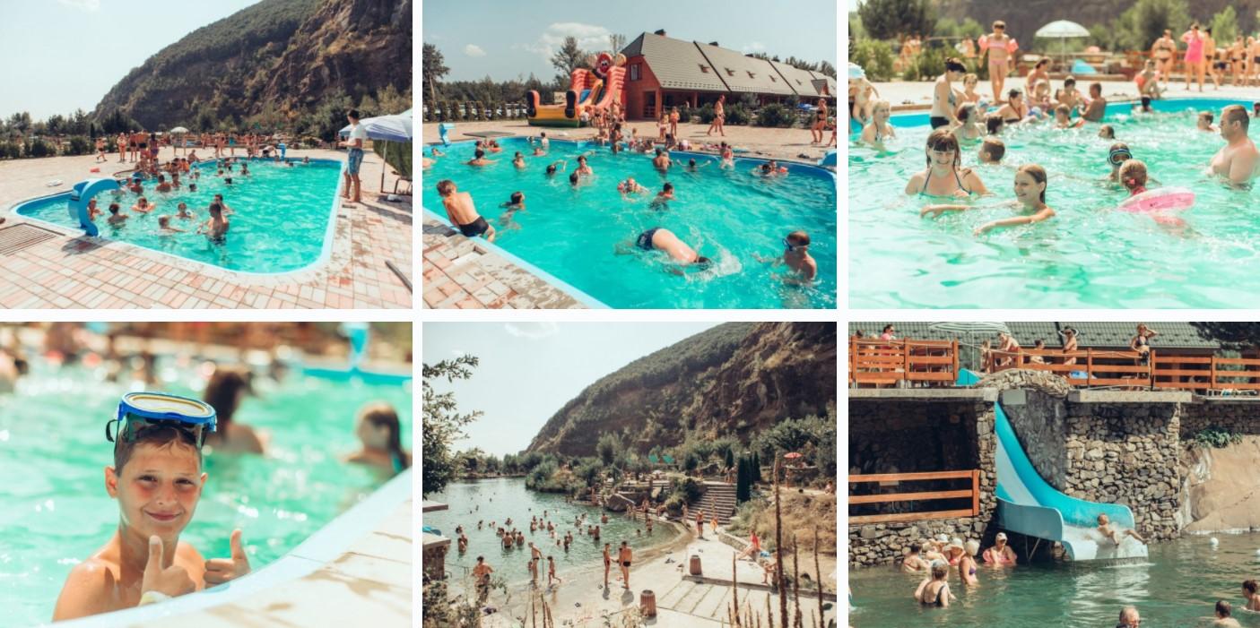 Відкриті басейни та озеро Чорна Гора у Виноградові